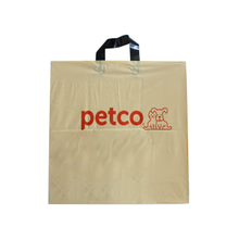 LDPE Beige Soft Loop Hanld Bag