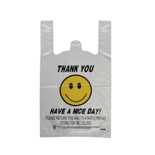 HDPE CLEAR Happy Face T-shirt Bag