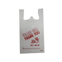 HDPE White Thank You T-shirt Bag