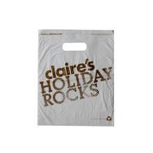 HDPE White Die Cut Shopping Bag 1c 1s