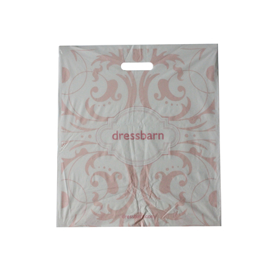 HDPE White Side Sealed Die Cut Shopping Bag